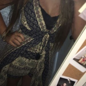 Romper with Dress like Cape